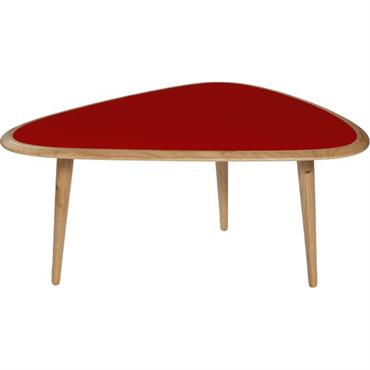 Petite table basse rouge Fifties - RED Edition