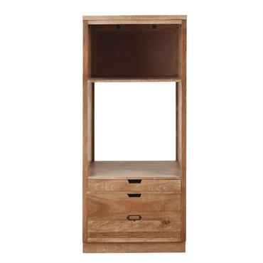 Le style industriel pousse joliment la porte de votre atelier gourmand avec le meuble de cuisine colonne four 2 tiroirs en manguier massif . Structure en manguier massif, porte-étiquettes en ...