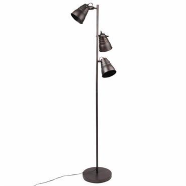 Lampadaire double en métal noir H152