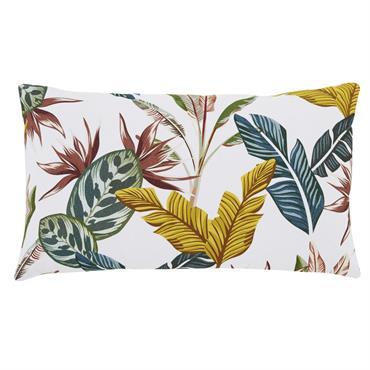 Comme une évidence, le coussin en coton écru imprimé feuilles multicolores 30x50 SPELLO insufflera une ambiance bohème et tropicale au salon. Si on apprécie sa forme rectangulaire et son garnissage ...
