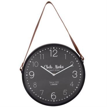 Horloge à suspendre noire et marron D33