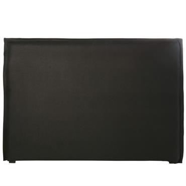 Housse de tête de lit 180 en lin lavé gris charbon