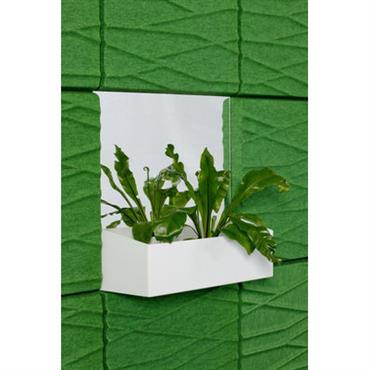 Jardinière murale / miroir - Pour panneau acoustique Soundwave - Offecct Blanc