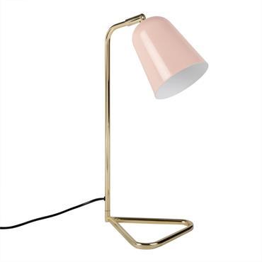Lampe de bureau en métal rose et doré