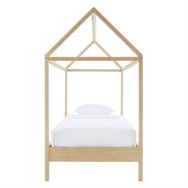 Rien de tel que le lit cabane 90x190 en pin WILD pour s'évader, s'amuser et dormir ! L'atout de ce lit cabane au look contemporain ? La structure, le toit, ...