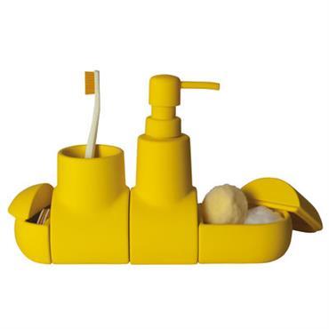 Set d´accessoires Submarine / Pour salle de bains - Seletti jaune en céramique