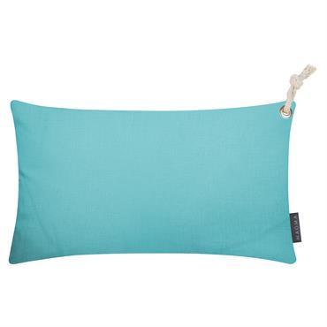 Housses de coussin outdoor avec corde turquoise - Lot de 2 - 50x30