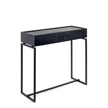 Console Nero / 1 tiroir - Marbre - L 80 cm