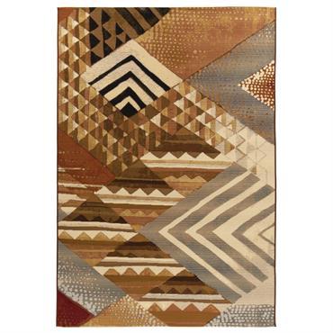 Tapis d'extérieur et intérieur durable Marron multicolore 80 x 165