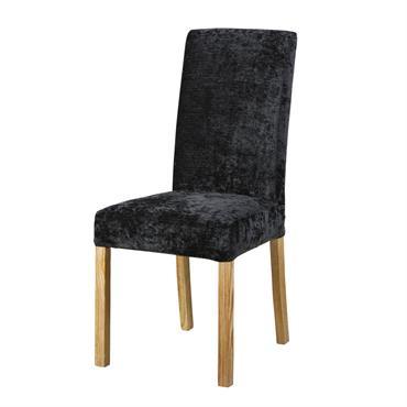 Housse de chaise en velours noir