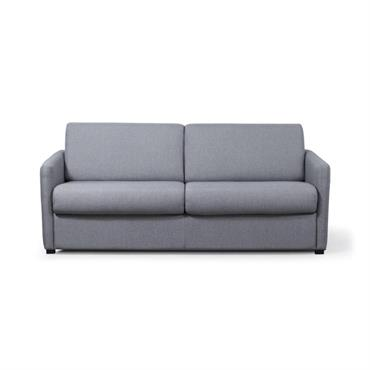 Canapé convertible express 3 places en tissu gris clair