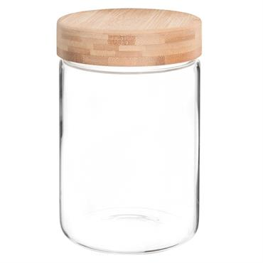Bocal en verre et bambou H