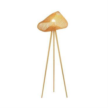 Lampadaire en bambou pieds en bois H165