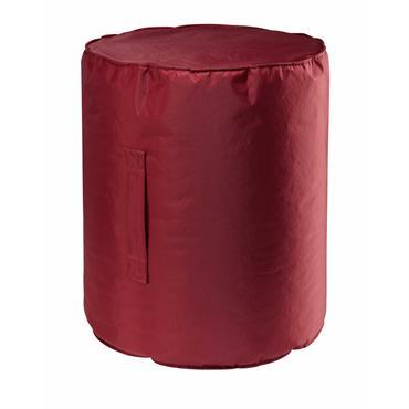 Pouf de jardin en tissu rouge BARBADE