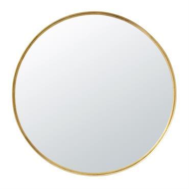 Miroir rond en métal doré D110