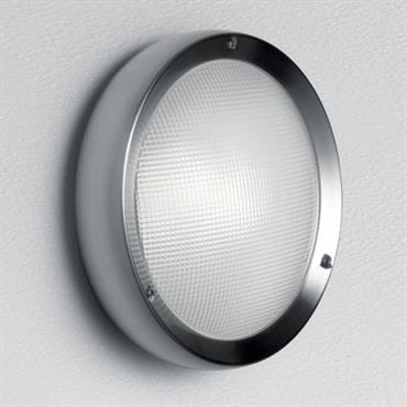 Applique Niki LED / Plafonnier - Version verre - Artemide inox satiné