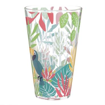 Chope en verre imprimé motif tropical