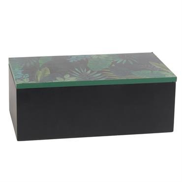 Boîte verte imprimé tropical