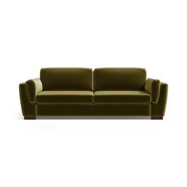 Canapé 3 places en velours vert