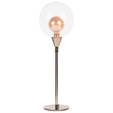 Lampe boule en verre et métal cuivré