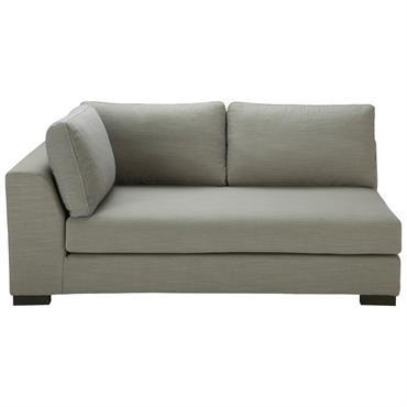 Canapé modulable accoudoir gauche gris clair Terence