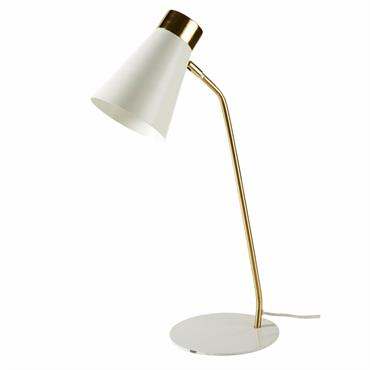 Lampe en métal blanc et doré