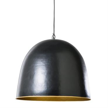 Suspension en métal noir et doré