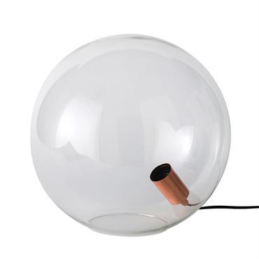 Lampe globe en verre
