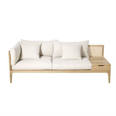 Canapé 3 places en lin ivoire Delphes