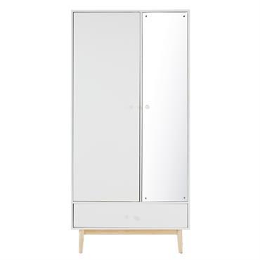 Dressing 2 portes 1 tiroir blanc Joy