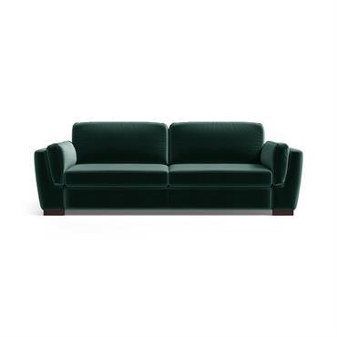 Canapé 3 places en velours vert bouteille