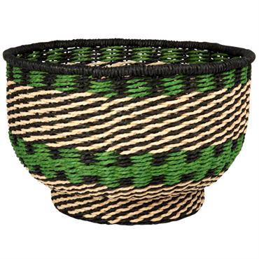 Corbeille en fibre végétale noire