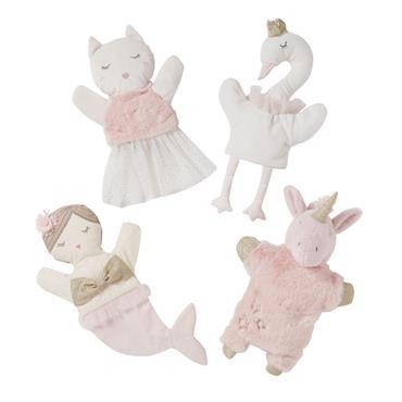 Marionnettes blanche et rose
