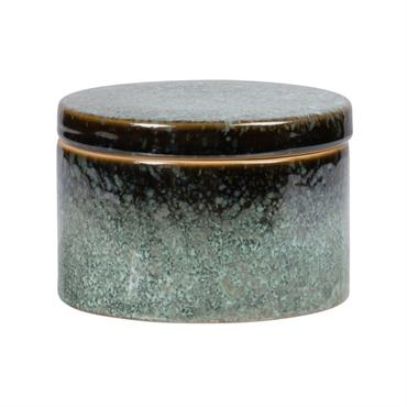Boîte en porcelaine verte