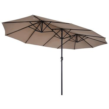 Parasol de jardin XXL marron