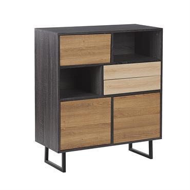 Commode bois foncé et clair très spacieuse