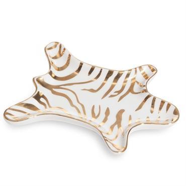 Coupelle à bijoux en porcelaine dorée et blanche BESTO