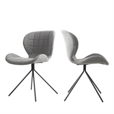 2 chaises design gris clair