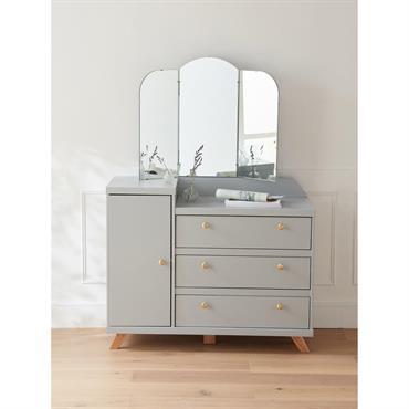 Meuble miroir BILBOQUET DÉCO gris clair