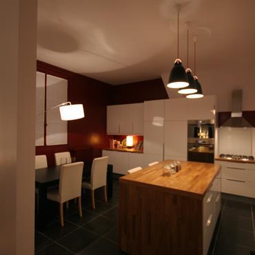 Réhabilitation d'un appartement, 56m², Paris. Conception, maitrise d'ouvrage.  Domozoom