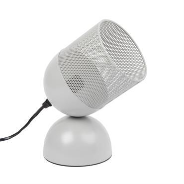 Lampe projecteur en métal gris