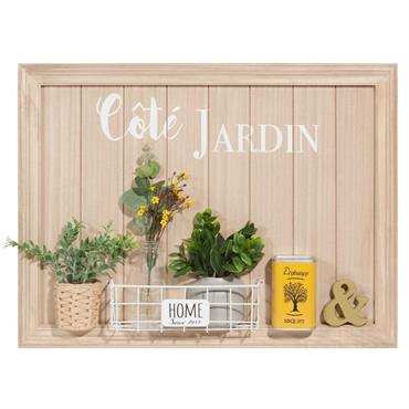 Tableau jardinière 60x45cm CÔTÉ JARDIN