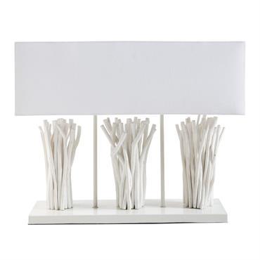 Laissez-vous porter par l'esprit bord de mer de la lampe en bois flotté blanchi CAMARGUE ! Vous serez charmé par son blanc épuré et son bois flotté qui semble avoir ...