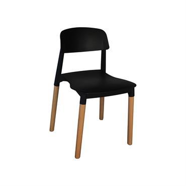 Chaise design moderne Noir