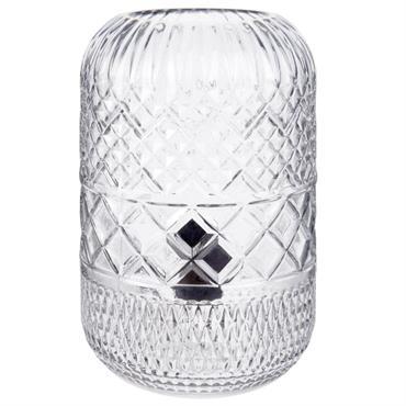 Lampe en verre sculpté