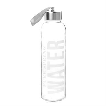 Gourde en verre imprimé blanc