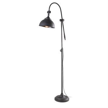Lampadaire indus en métal noir H168