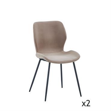 Ne manquez pas de style, grâce à cette chaise taupe en velours au look légérement rétro. Un design original qui s'invite par son aspect sophistiqué et élégant. Un style moderne ...