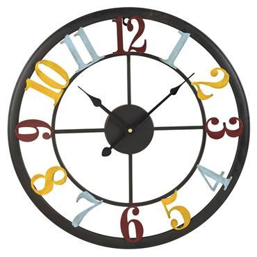 Horloge mutlicolore en métal D45