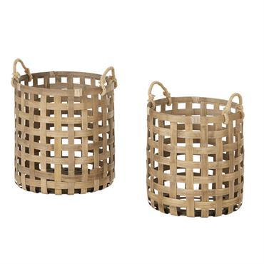 Paniers en bambou tressé
